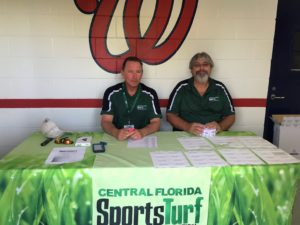 Rob Julian and Dale Croft at Check-in Space Coast Stadium September Chapter meeting